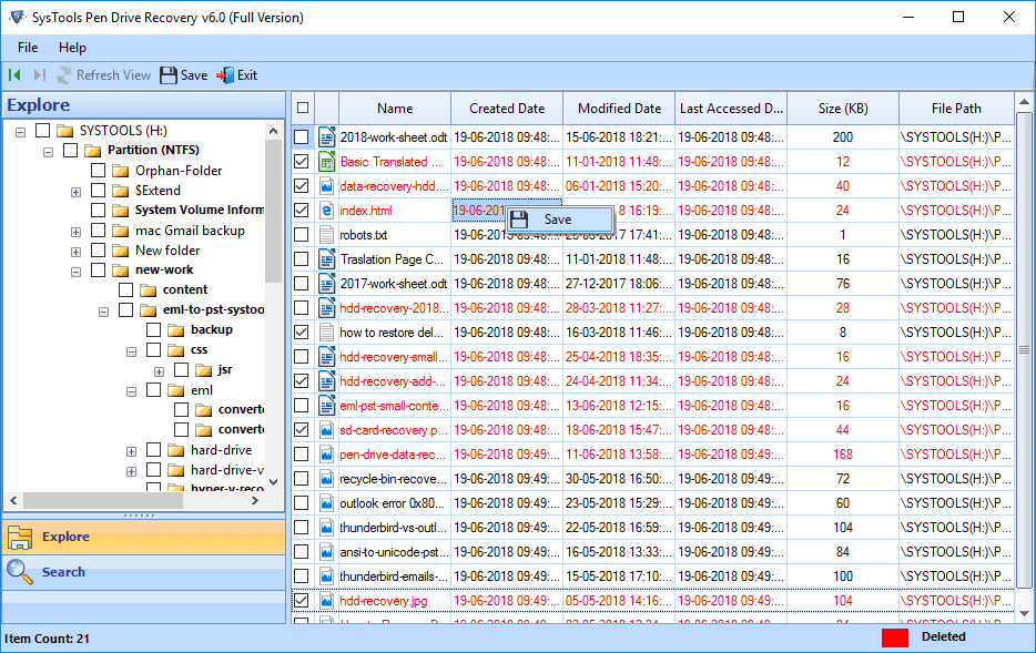 USB Drive Recovery full screenshot